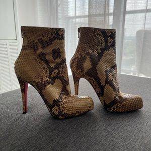 Brown Snake Skin Authentic Louboutin size 37